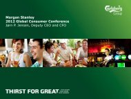 Morgan Stanley Consumer Conf New York Nov ... - Carlsberg Group