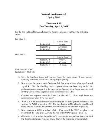 Homework #6 - Due Tuesday, April 1