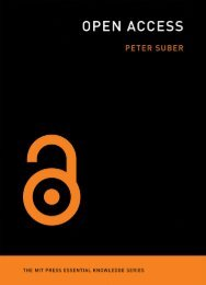 Open Access, Peter Suber - MIT Press