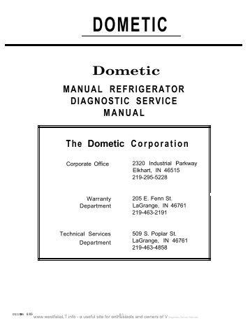 dometic manual refrigerator diagnostic service manual webring rh yumpu com dometic dm2652 repair manual dometic 2190 repair manual