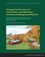 Strategies for the Future of Conservation - Yale University