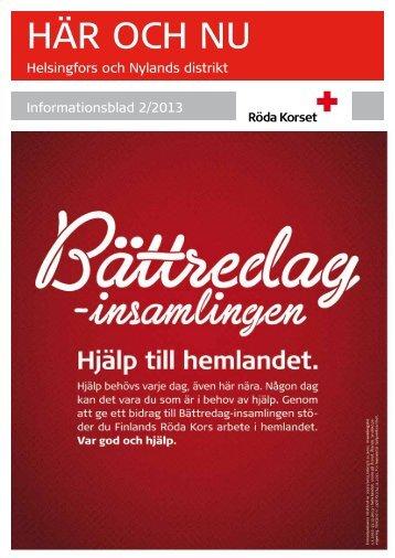 Här och nu 2_2013 - RedNet - Punainen Risti