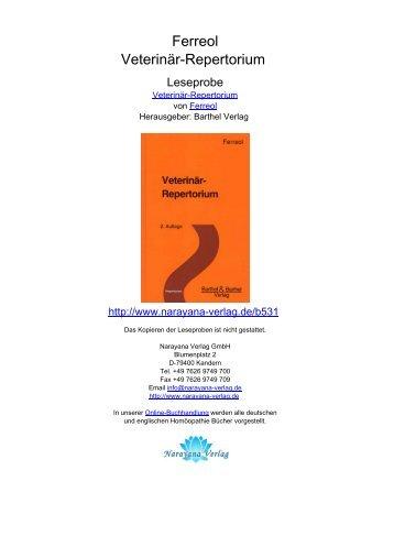 Ferreol Veterinär-Repertorium