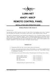 LUMA-NET 404CP / 408CP REMOTE CONTROL PANEL - Leviton