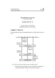 Datenbanken II, Uebungsblatt 12