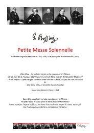 Petite Messe Solennelle - Coro Luigi Gazzotti