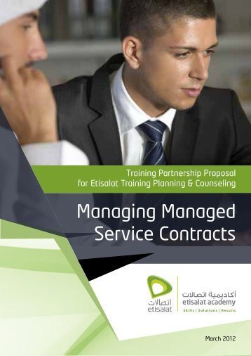 Managing Managed Service Contracts - Etisalat Academy