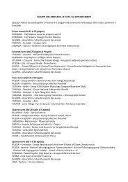 I gruppi che arrivano, le date, gli appuntamenti - Provincia solidale
