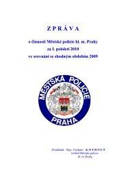 ZPR Á VA o činnosti Městské policie hl. m. Prahy za I ... - Praha.eu