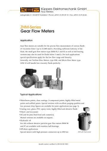 ZHM-Series Gear Flow Meters