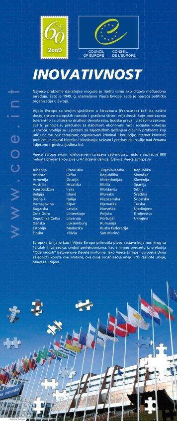 The general Council of Europe exhibition kit - BOSANSKI