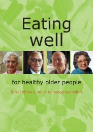 Eating Well - For Healthy Older People - West Coast District Health ...
