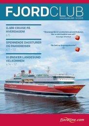 Last ned siste utgave av magasinet her - Fjord Line
