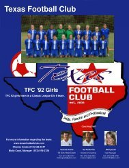 TFC92Girls resume-November2008 4 pages - Scouting Solutions ...
