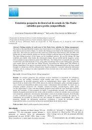Estatística pesqueira do litoral sul do estado de São ... - PanamJAS