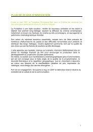 plus de 20 ans d'innovation - Fondation Groupama Gan pour le ...
