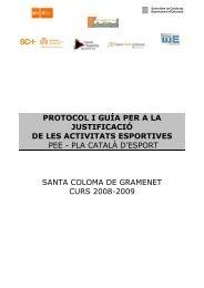 protocol de les activitats esportives del pee - Ajuntament de Santa ...