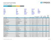 Low Cost Fuel Index Lowest Retail Price By State - Comdata