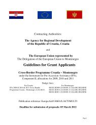 Guidelines for Grant Applicants Cross-Border Programme Croatia