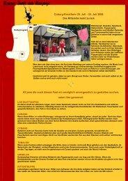 Coburg-Ernstfarm 29. Juli - 30. Juli 2006 All jene die euch dieses ...