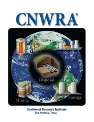 cnwra - Southwest Research Institute