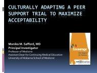 Dr. Safford's presentation - Peers For Progress