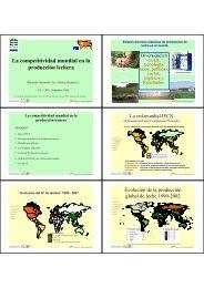 La competitividad mundial en la producción de leche