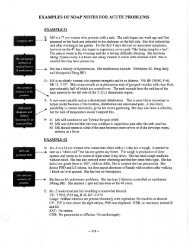 examples of soap notes for acute problems - UW Family Medicine