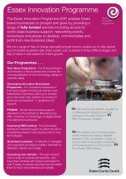Essex Innovation Programme - Invest Essex