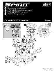 Aufbauanleitung Spirit Original E 310 / E 320 - Weber - Der Grill ...