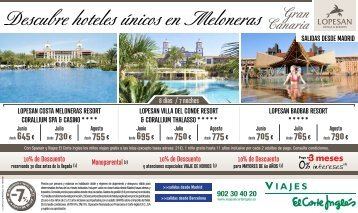 Descubre hoteles únicos en Meloneras - Viajes El Corte Inglés