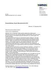 Pressemitteilung [ 114 KB] - Vamos eV