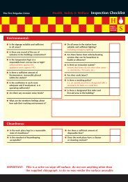 Safety Representatives Checklist - Fire Brigades Union