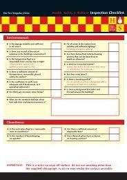 Safety Representatives Checklist - Fire Brigades Union