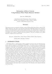 Estimation of River Current Using Kalman Filter Finite Element ...