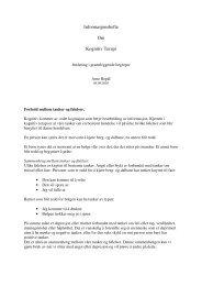 Informasjonshefte Om Kognitiv Terapi