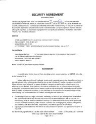 SECURITY AGREEMENT - National Republic Registry