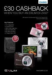 £30 CashbaCk - Wex Photographic