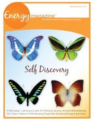 May 2010: Self Discovery - Energy Magazine