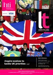Inspire evolves to tackle UK priorities | pg4 - HTI