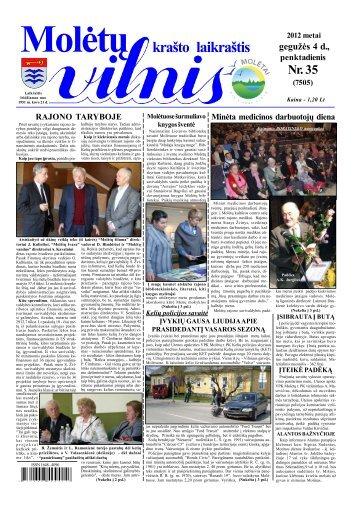 2012 m. gegužės 04 d., penktadienis Nr.35 - 2013 - VILNIS