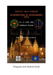 Program and abstract book - wrocław helas workshop
