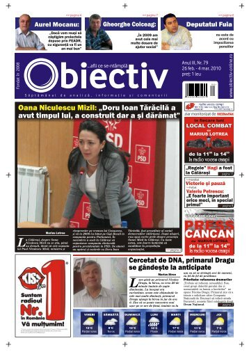 """Oana Niculescu Mizil: """"Doru Ioan Tărăcilă a avut timpul lui ... - Obiectiv"""