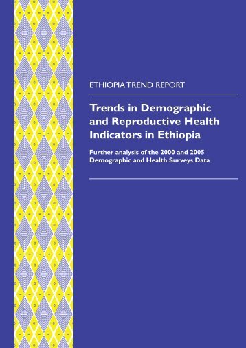 Trends in Demographic and Reproductive Health ... - Measure DHS