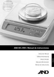 AND EK-i/EW-i Manual de instrucciones
