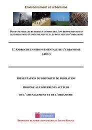 Environnement et urbanisme (AEU) - Ademe Ile de France