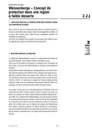 Weissenberge – Concept de protection dans une région à ... - KBNL