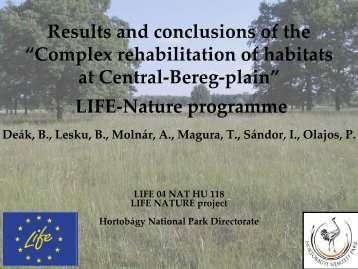 LIFE-Nature programme - wise-rtd.info