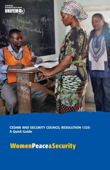 CEDAW and Security Council Resolution 1325: A ... - PeaceWomen