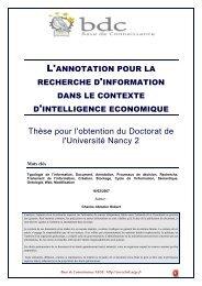 L'annotation pour la recherche d'information dans le contexte d ...